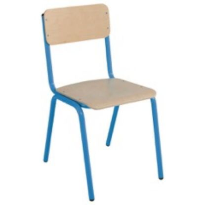 Chaise scolaire empilable bleue