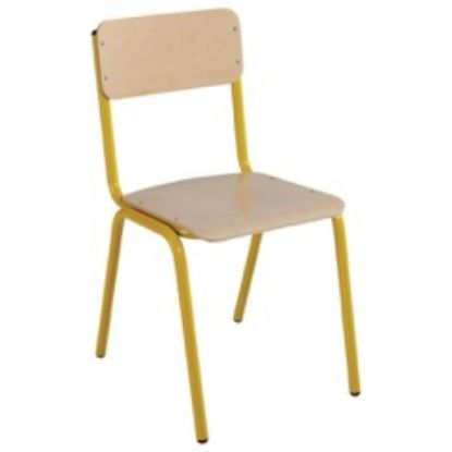 Chaise scolaire empilable jaune
