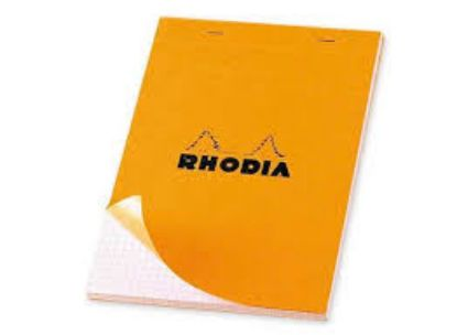Picture of Bloc Note RHODIA A4 80 feuilles Gros Carreaux