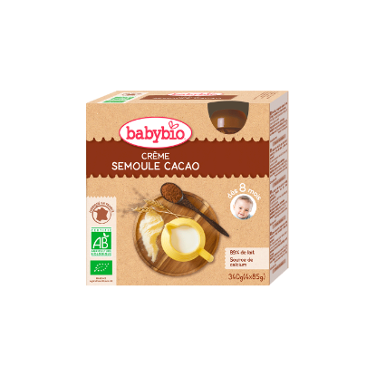 Picture of Babybio Gourde Crème Cacao Semoule 4 x 85g