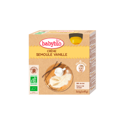 Picture of Babybio Gourde Crème Vanille Semoule 4 x 85g