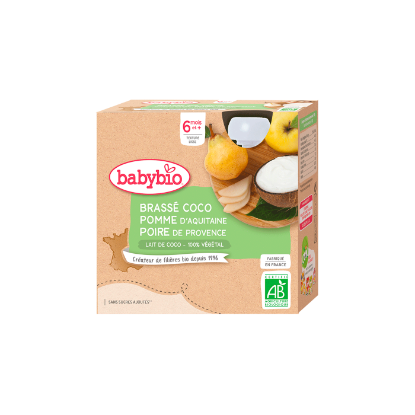 Picture of Babybio Gourde Lait Coco Pomme Poire 4 x 85g