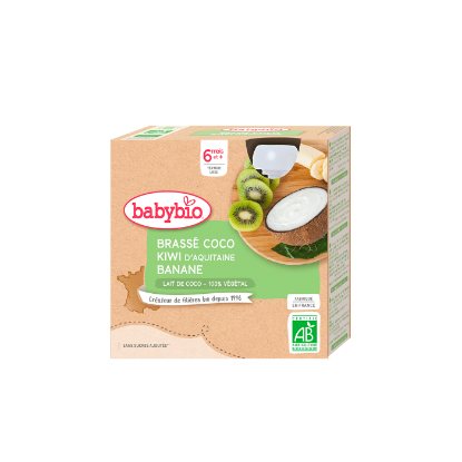 Picture of Babybio Gourde Lait Coco Kiwi Banane 4 x 85g