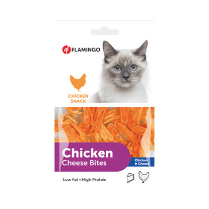 FLAMINGO Chick'n snack chicken et cheese pour chat 85g
