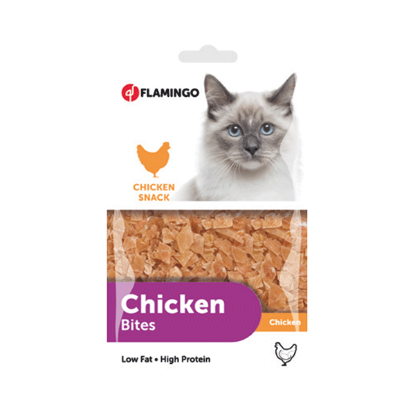 FLAMINGO Chick'n snack pour chat 85g
