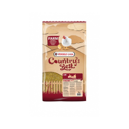 Versele Laga Farm 1&2 Mash Country's Best Farine pour poulets de chair 5Kg