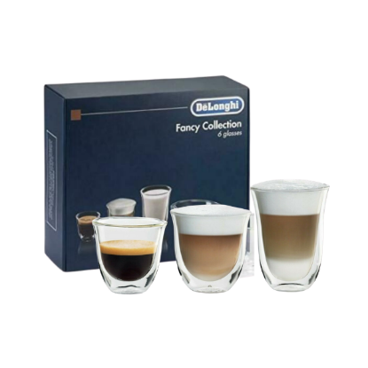 DELONGHI Set 6 Verres à Expresso - 60/90/220ml
