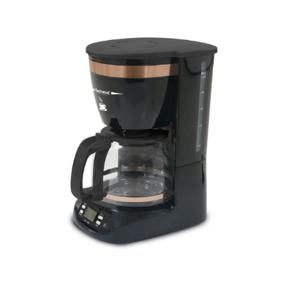 TECHWOOD Cafetiére Programmable 12 Tasses Bronze / Noir
