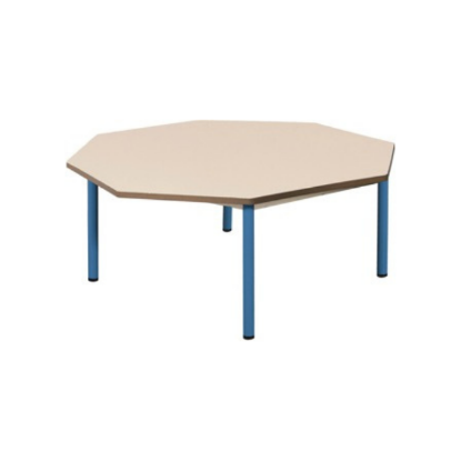 Table scolaire octogonale
