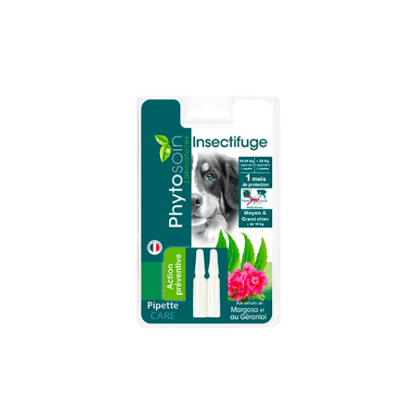 Pipettes insectifuge chien moyens et grands 2x2ml PHYTOSOIN