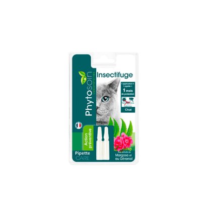 Pipette insectifuge chats 2x0,60 ml PHYTOSOIN